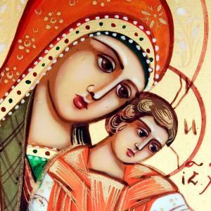 Icône russe, 6x9,mère de Dieu Kikkotissa s3