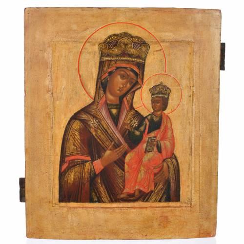 Icône russe ancienne Notre-Dame Hodighitria XVIII siècle s1