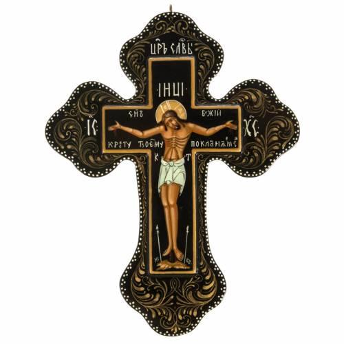 Icône Russe croix Mstjora cm 18x15 s1