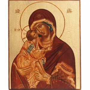 Icône Russe Mère de Dieu de Vladimir, Rublev s1