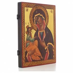 Icone Russe peinte Mère de Dieu de Jérusalem 28x22 s2