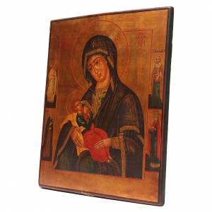 Íconos antiguos: Icono Antiguo Ruso Virgen de la Leche Restaurada XX siglo