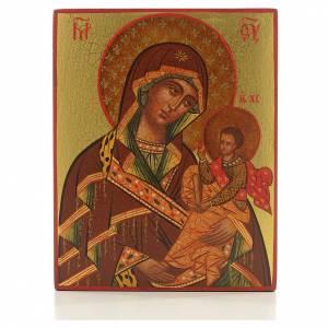 Íconos Pintados Rusia: Icono Madre de Dios de Suaja