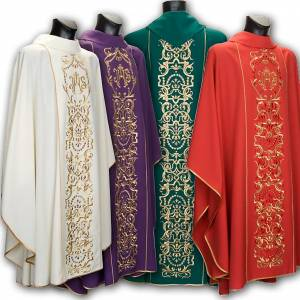 Chasubles: IHS chasuble and stole