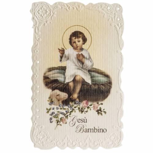 Image de dévotion Enfant Jésus avec prière s1