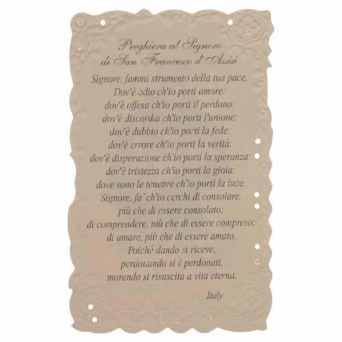Image de dévotion St François d'Assise avec prière s2