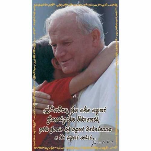 Image pieuse Jean-Paul II avec prière béatification italien s1