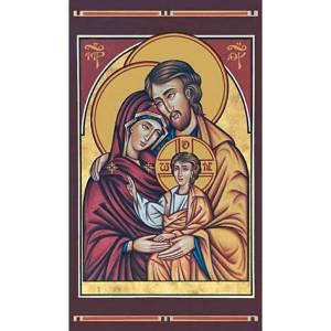 Images pieuses: Image pieuse Sainte Famille byzantine