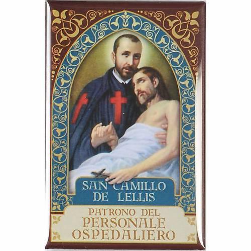 Imán San Camilo de Lellis oro s1