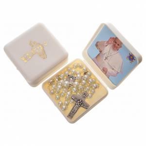 Imitation pearl rosary, Pope Francis s5