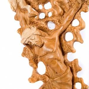 Inlayed olive wood crucifix s2