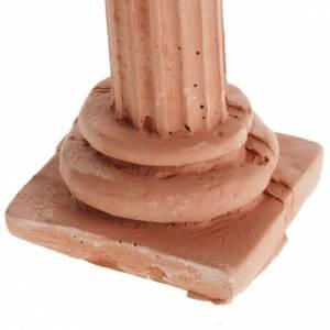 Hauszubehör für Krippe: Korinthische Säule aus Harz terrakottafarbig