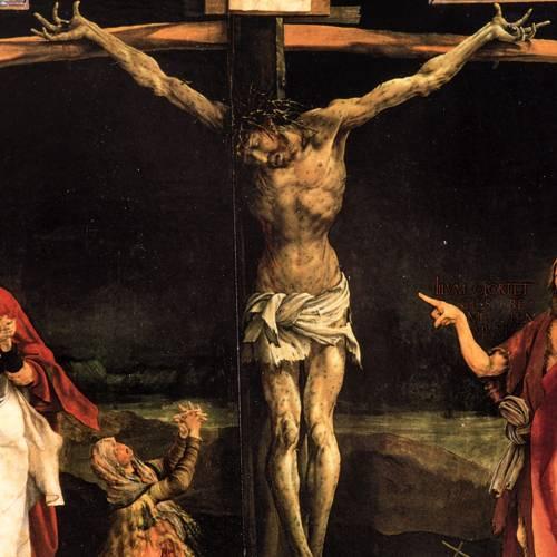 Isenhaim altarpiece triptych 21x30 with base s4