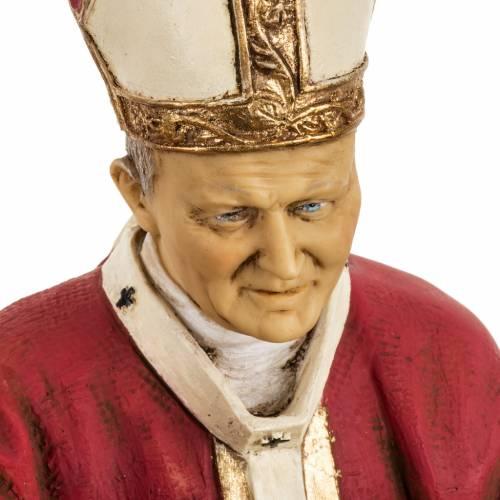Jean Paul II veste rouge 50 cm résine Fontanini s2