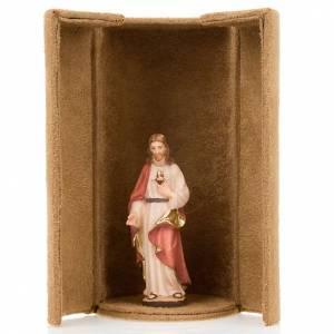 Jesus and saints bijoux statue with niche s3