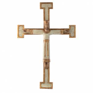 Stone crucifixes: Jesus Christ, Priest and King, white