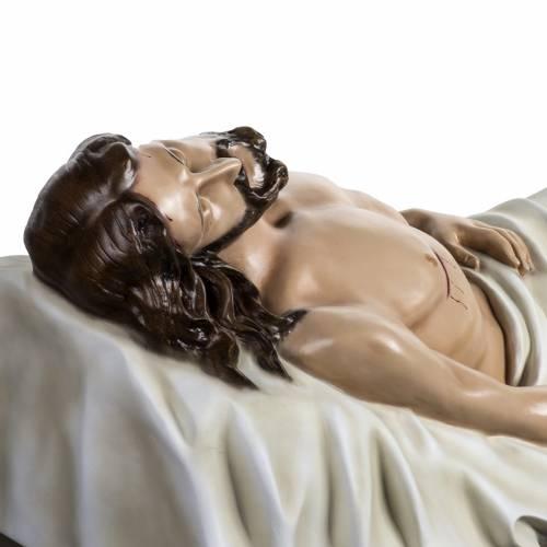 Jésus mort 140 cm fibre de verre colorée s9