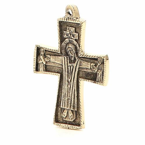Jesus Priest Crucifix Bethlehem Monks 9x6cm s2