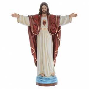 Jésus Rédempteur fibre de verre peint 160cm s1