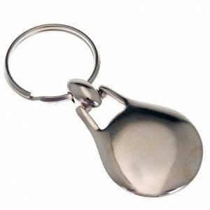 John Paul II key ring in stainless steel s2