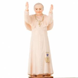 Candle holders: John Paul II on wooden base