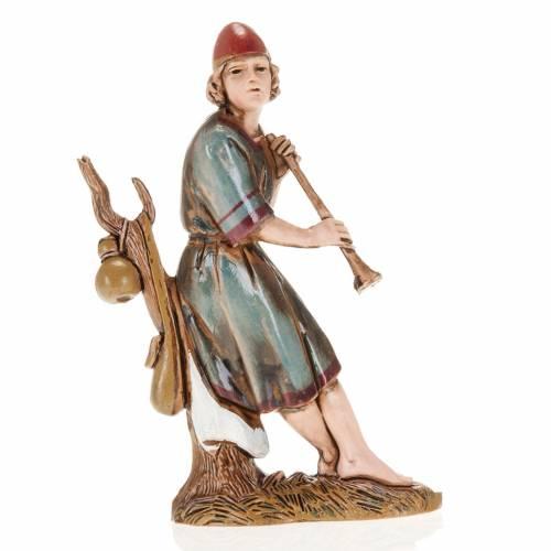 Joueur de flute et arbre crèche Moranduzzo 10 cm s1