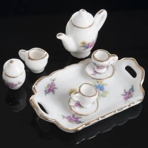 Hauszubehör für Krippe: Kaffee- und Teegeschirr Miniatur Krippe