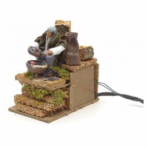 Bewegliche Krippenfiguren: Kastanienmann bewegliche Krippenszene 14x9 cm