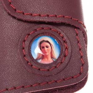 Key case in leather with 6 hooks, Miraculous Medal s2