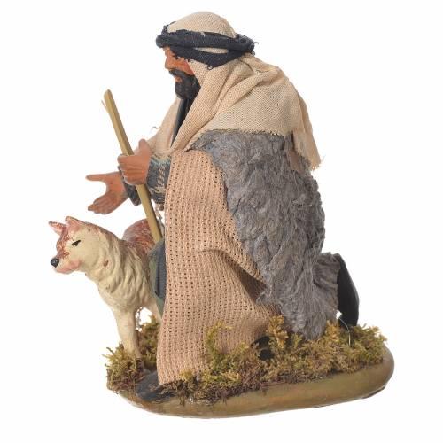 Kneeling man with dog, Neapolitan Nativity 12cm s2