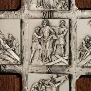 Stehkreuze, Kruzifixe und Kreuze mit Ständer: Kreuzweg 14 Stationen Diptycon aus Silber.