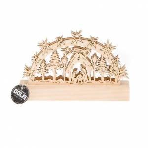 Krippe aus Grödnertal Holz: Krippe mit Lichten