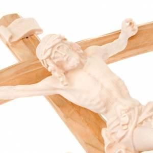 Kruzifixe aus Holz: Kruzifix kurven Kreuz aus Naturholz