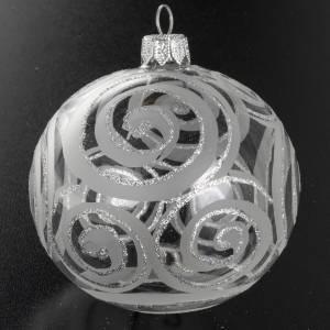Tannenbaumkugeln: Kugel Weihnachtsbaum  transparentes Glas Silberdekorationen 8 cm