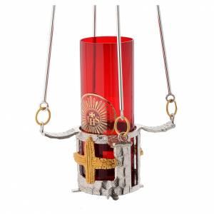 Lampada per Santissimo da appendere bronzo h. 75 cm s3