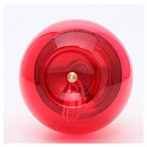 Lampada sfera vetro su base ottone s2