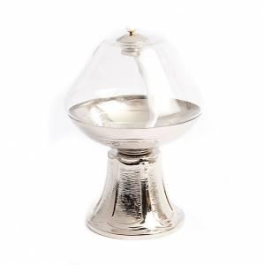 Lampe en verre transparent, base en nickel s3