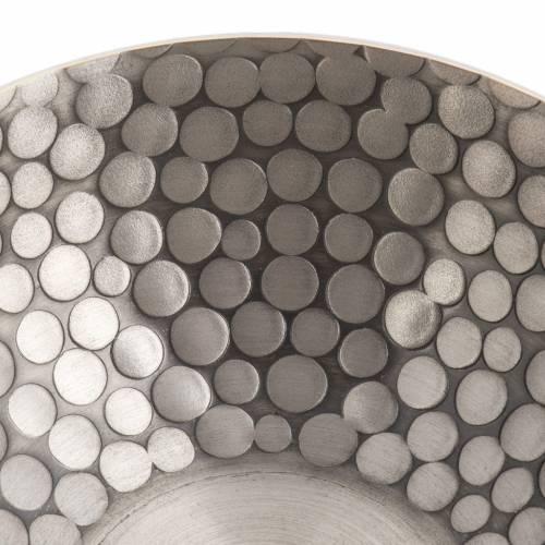 Lampe pour cire liquide en laiton martelé argenté s4