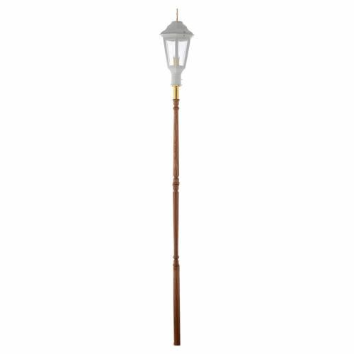 Lampione da processione bianco manico legno 2 mt s5