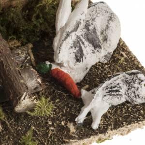 Lapins avec lapinière milieu crèche de Noel s3
