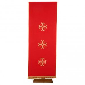 Lectern Cover, embroidered 3 golden crosses with glass beads s7
