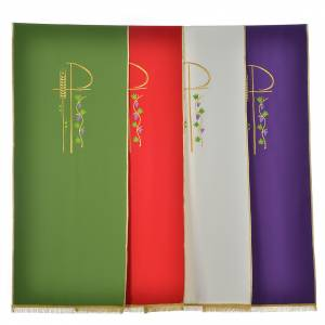 Lectern covers: Lectern Cover in polyester, Chi Rho, wheat, grape leaves
