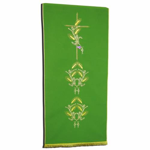 Lectern Cover in polyester, cross, ears of wheat s1