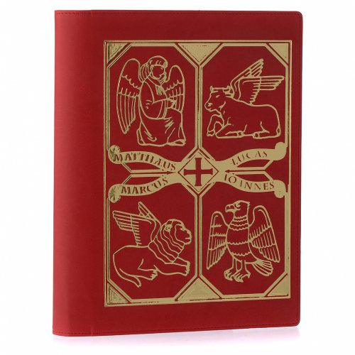 Lectionary cover in real leather, Evangelists, red s2