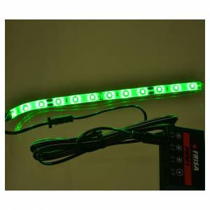 LED strip with 12 lights 0,8x16cm, green for Frisalight s2