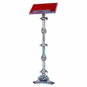 Leggii a colonna: Leggio a stelo ottone fuso argento 110 cm