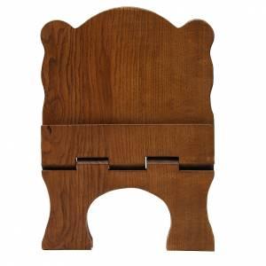 Leggio tavolo frassino scuro semplice Monaci Betlemme s5