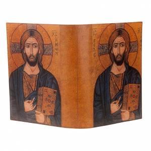 Deckel für Lektionar: Lektionareinband echte Leder Ikone Kristus Pantocratore