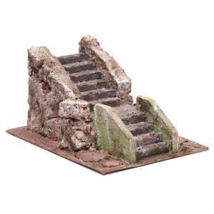 Little ancient nativity scene staircase 10x15x20 cm s3