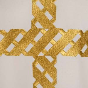 Liturgical chasuble golden cross embroidery s6